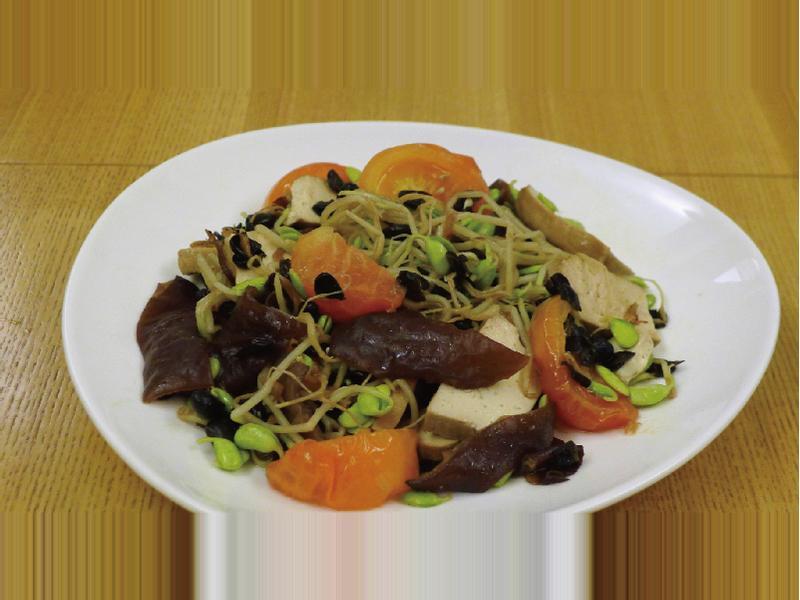[綠藤芽食譜] 黑豆芽炒番茄黑木耳