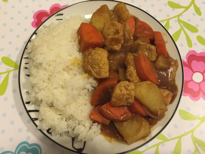 豬肉咖喱飯