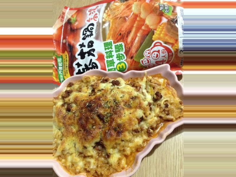 義大利肉醬焗飯~可果美蕃茄鍋