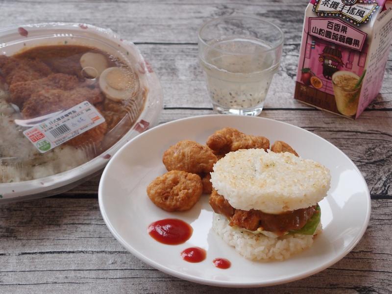 日式雞排咖哩米漢堡7-11日式雞排咖哩飯