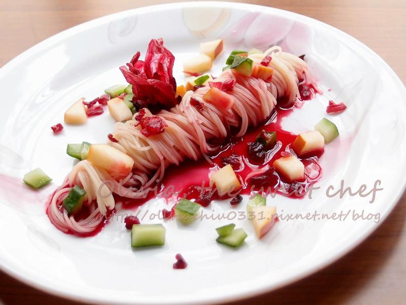 Olivia♥洛神蔬果天使麵「臺東農產好料理」