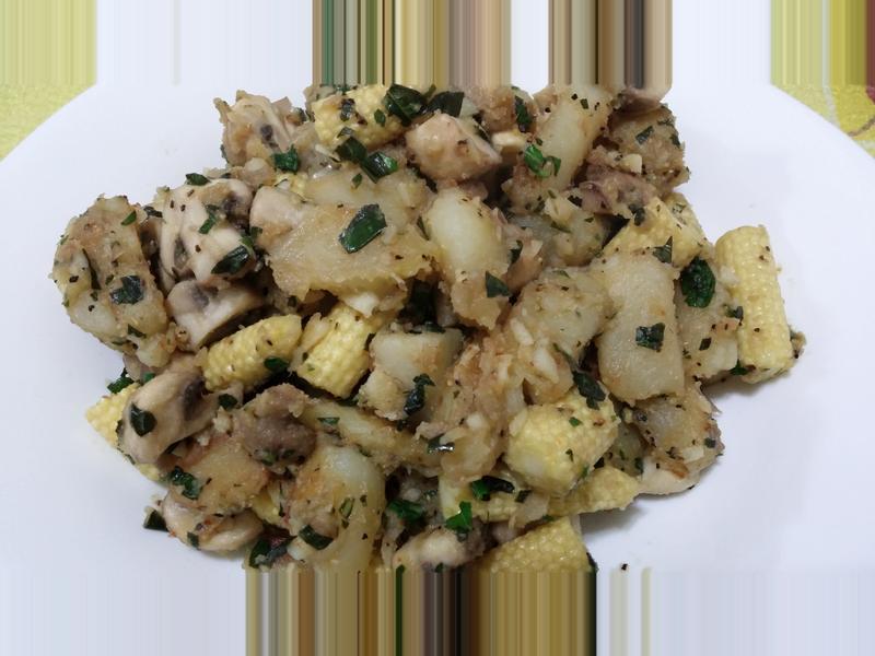 愛烹飪。奶油洋芋炒蘑菇