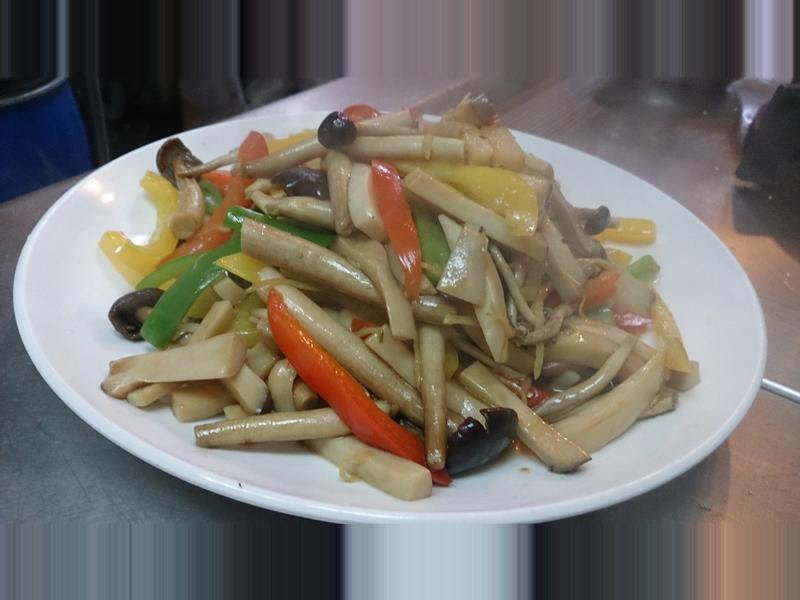 素食料理♥ 鮮 炒 雙 菇