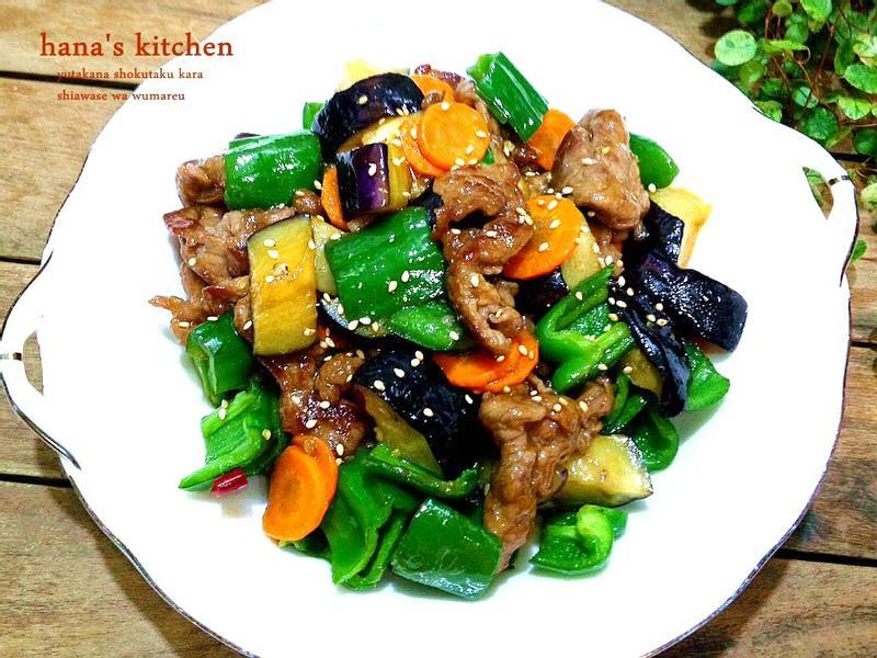 香茄青椒牛肉片
