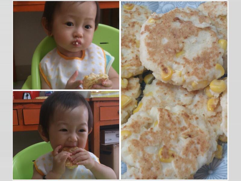 寶寶版玉米雞肉薯餅