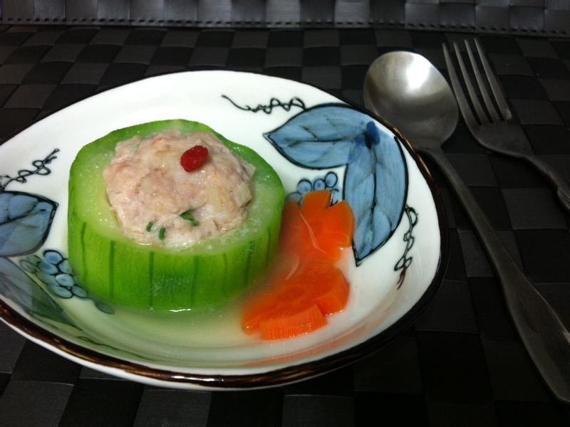 絲瓜蝦仁鑲肉