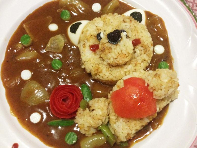 愛心熊燴飯