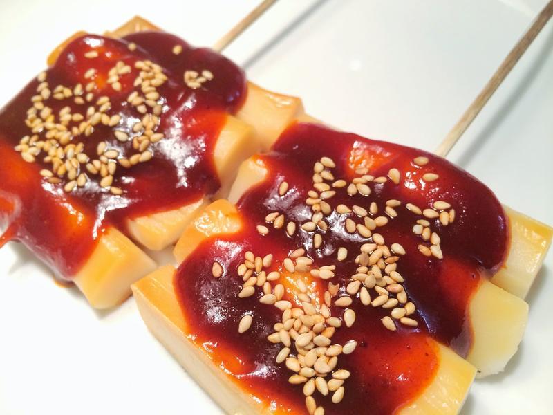 韓國街邊小吃~ 甜辣年糕串 떡꼬치