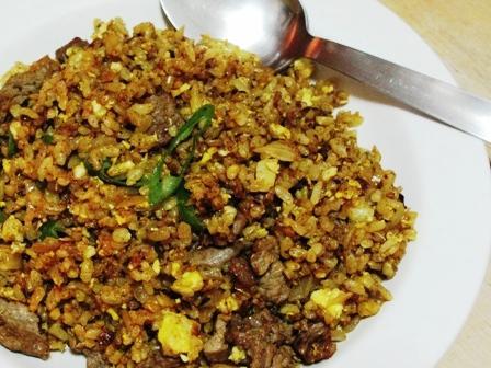 *Re*印度風味的咖哩牛肉蛋炒飯