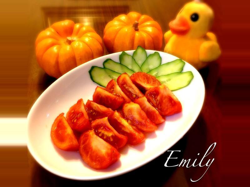 蜂蜜梅醋醃番茄