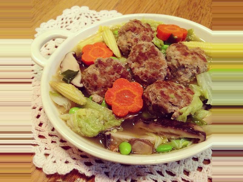 野菜多多紅燒獅子頭