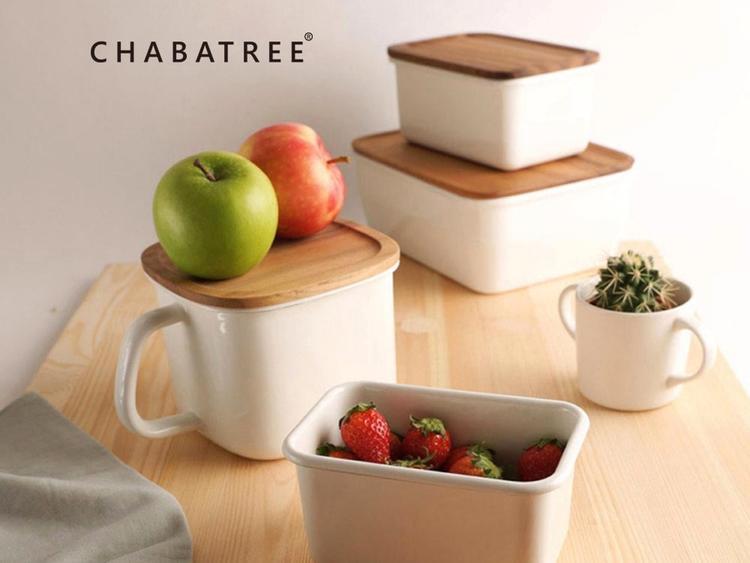 CHABATREE原木琺瑯容器