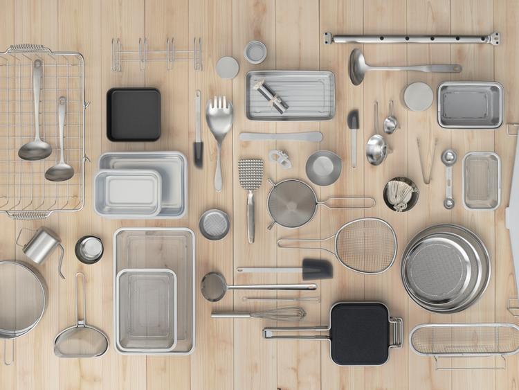 日本製 家事問屋不鏽鋼質感餐廚