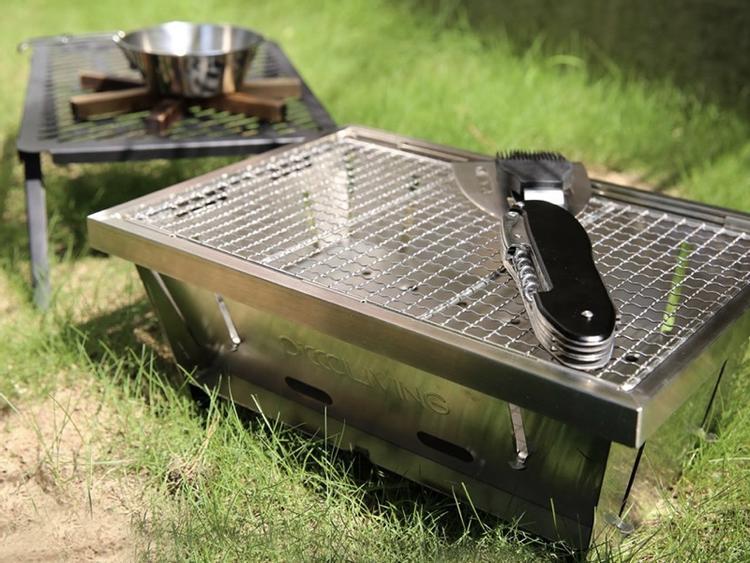 秒收納 超薄不鏽鋼烤肉爐